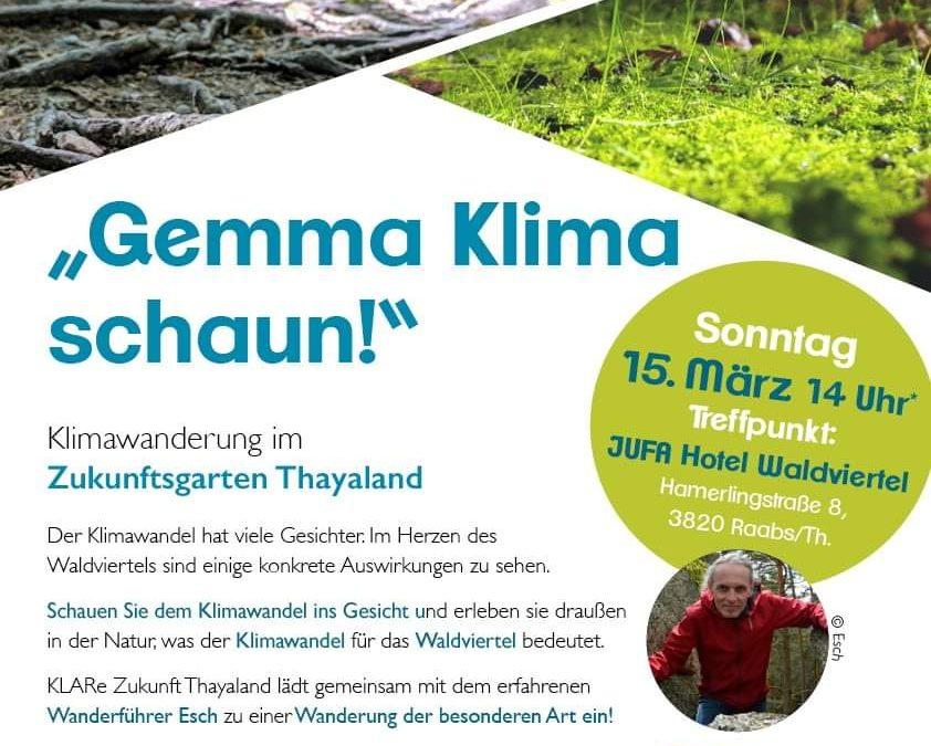 Klimawanderung im Zukunftsgarten Thayaland